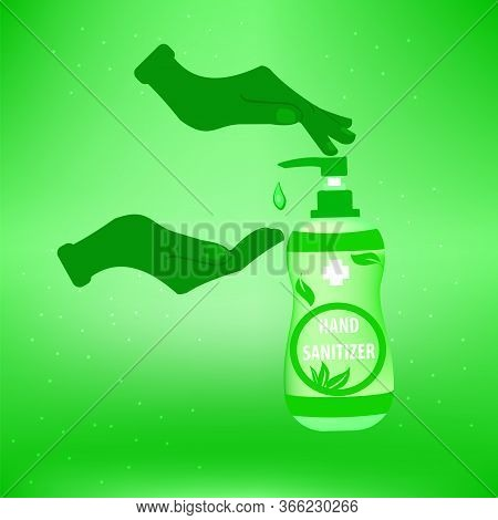 Hand Sanitizer,illustration Of Hygiene Product. Hand Wash