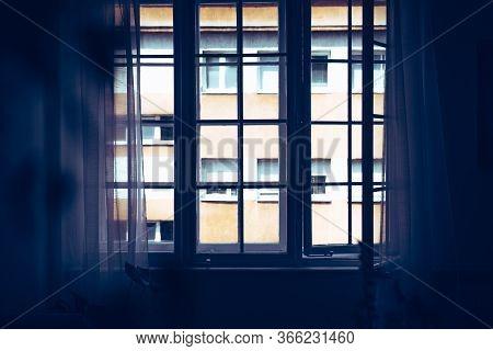 Sunny Day Through Window. Home Decor. Home Decor Window. Old Window In White Apartment Home Decor. S