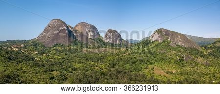 Aerial Drone Photography Of A Tropical Landscape, With Forest And Mountains Kumbira Forest Reserve,