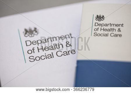 London, Uk - May 15 2020: Uk Department Of Health Social Care Official Letter