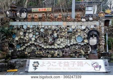 Tochigi, Japan - March 21, 2019: View Of Mashiko, The Traditional Pottery Town Of Japan, Popular For
