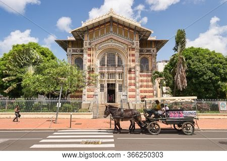Fort-de-france, Martinique, Fr - 21 July 2017: Schoelcher Library In Fort-de-france, Martinique Isla