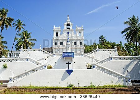 Church of Mary Immaculate Conception in panaji goa india poster