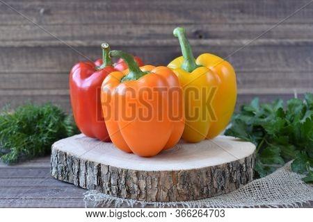 Bulgarian Pepper. Red Pepper. Yellow Pepper. Orange Pepper. Sweet Pepper. Paprika.
