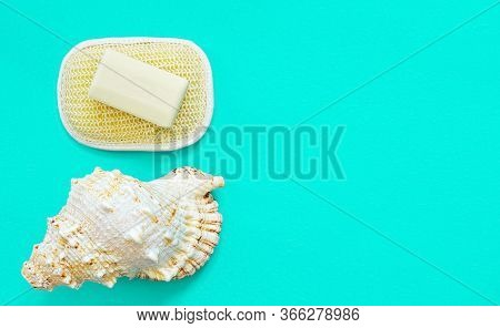 Rest And Relaxation, Organic Cosmetics For Body Care - Washcloth And Natural Handmade Soap, Bath Acc