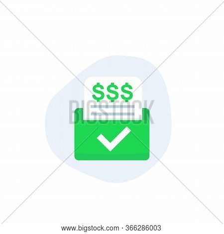 Invoice, Bill Form Or Payments Icon, Eps 10 File, Easy To Edit