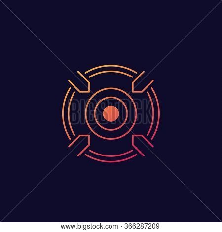 Focusing, Target Vector Icon, Eps 10 File, Easy To Edit