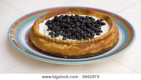 Homemade Blueberry Cheesecake