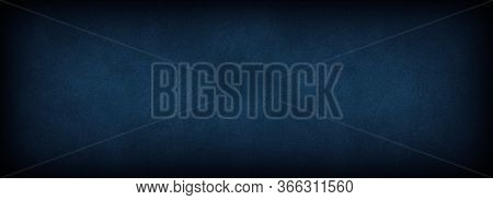 Abstract Grunge Decorative Blue Dark Wall Background. Blue Black Concrete Backgrounds With Rough Tex