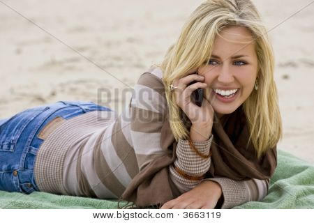 On The Beach And On The Phone