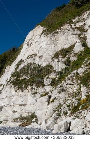 Cracks In The Cliff Face Likely To Lead To A Cliff Fall, Near Eastbourne