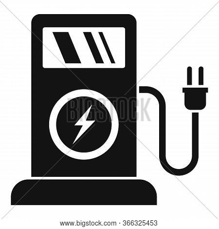 Electric Filling Station Icon. Simple Illustration Of Electric Filling Station Vector Icon For Web D