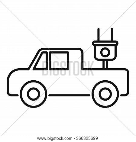 Electrical Pick Up Icon. Outline Electrical Pick Up Vector Icon For Web Design Isolated On White Bac