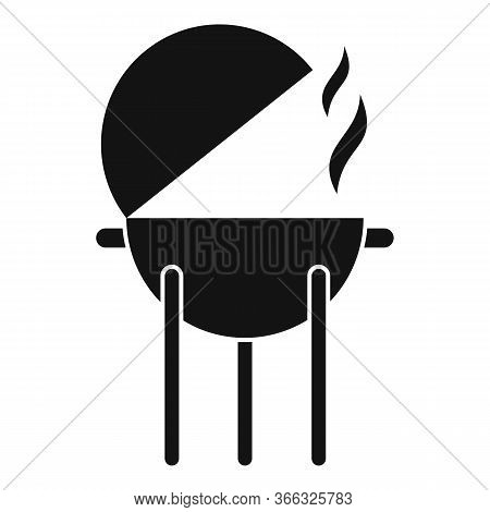 Bbq Equipment Icon. Simple Illustration Of Bbq Equipment Vector Icon For Web Design Isolated On Whit