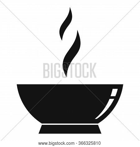 Hot Cooked Bowl Icon. Simple Illustration Of Hot Cooked Bowl Vector Icon For Web Design Isolated On