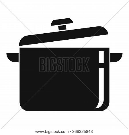 Cooking Pan Icon. Simple Illustration Of Cooking Pan Vector Icon For Web Design Isolated On White Ba
