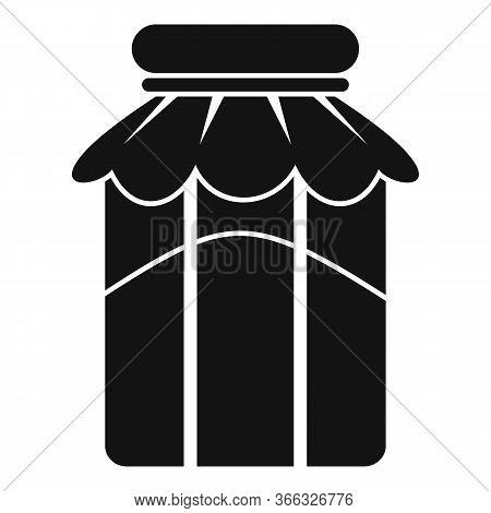 Sugar Jam Jar Icon. Simple Illustration Of Sugar Jam Jar Vector Icon For Web Design Isolated On Whit