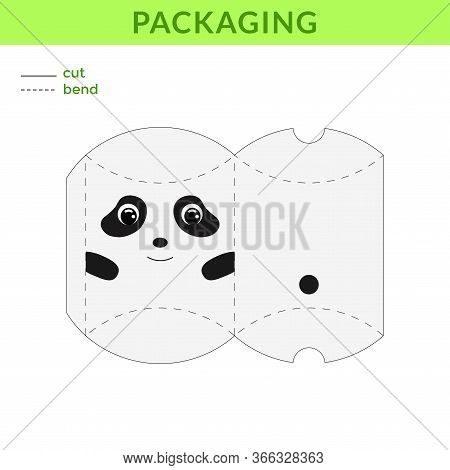 Adorable Diy Party Favor Box For Birthdays, Baby Showers With Cute Panda For Sweets, Candies, Small
