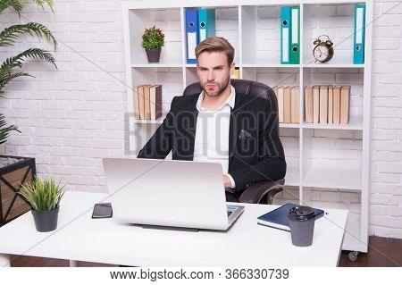 Running Freelance Business. Handsome Man Work Freelance. Freelancer In Office. Freelance Worker. Fre
