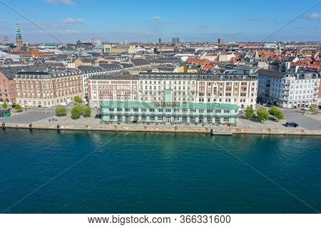 Copenhagen, Denmark - May 7, 2020: Aerial Drone View Of The Standard, A Restaurant Complex In The Fo