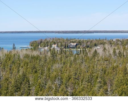 View On The Vast Stretches Of Water And Forest On The Bruce Peninsula