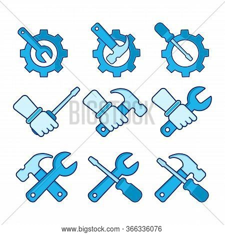 Repair Tools Icon Isolated On White Background. Repair Tools Icon Simple Sign. Repair Tools Icon Tre