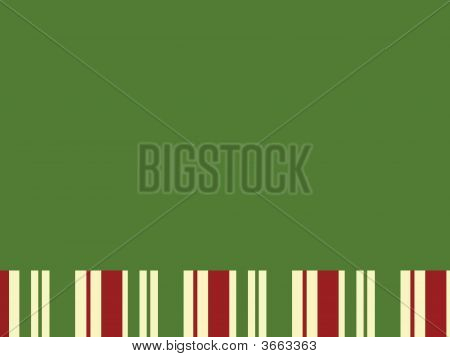 Green Block With Christmas Stripes