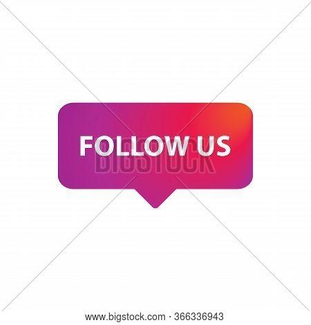 Follow Us Button Vector For Graphic Design, Logo, Web Site, Social Media, Mobile App, Ui Illustratio