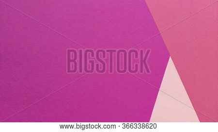 Simple Flat Lay With Pastel Texture And Triangle Shapes. Pink Paper Background. Stock Photo.