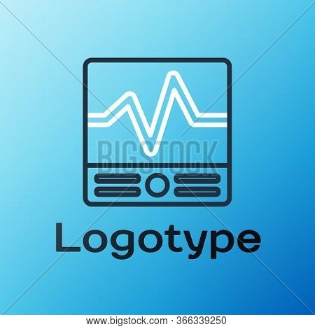 Line Electrical Measuring Instruments Icon Isolated On Blue Background. Analog Devices. Electrical A