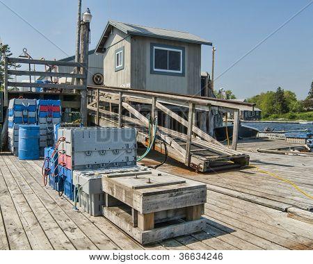 Dock For Maine Lobster Fishermen