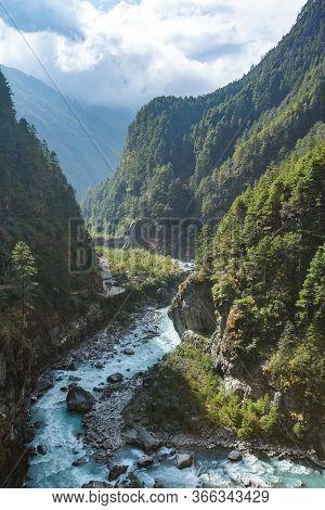Bhote-khosi River Valley. Nepal