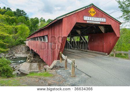 Covered Bridge In Taftsville Vermont