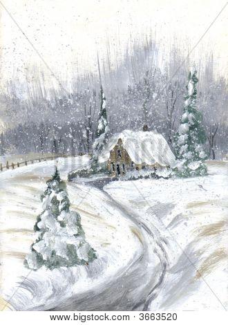 Painting Grandmas In Winter