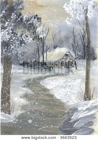 Painting Grandmas Wintery Day