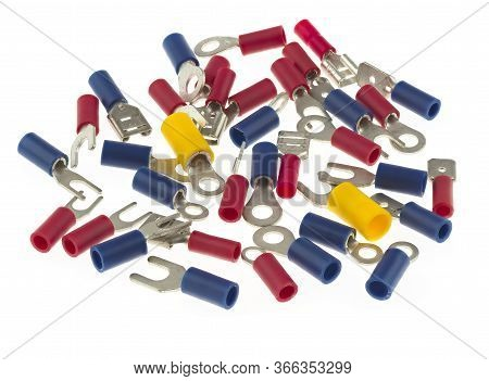 Assortment Of Crimp Terminals, Including Ring Terminals, Spade Terminals, Crimp Tab Terminals And Cr
