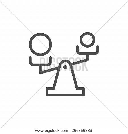 Priority Selection Line Outline Icon Isolated On White. Scales Sign. Select And Choice. Business Con