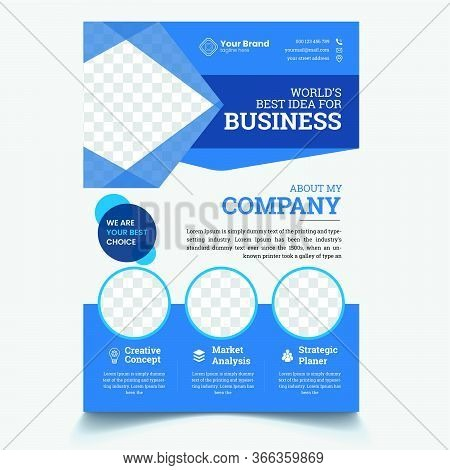 Business Flyer Corporate Flyer Template. Geometric Shape Flyer Circle Abstract Colorful Concepts