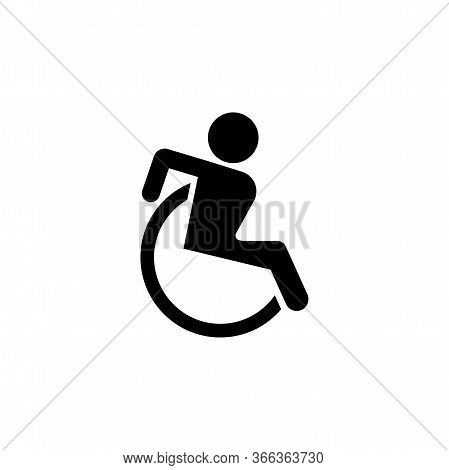 Disabled Icon. Sign Design. Wheelchair Icon Icon Design Template. Trendy Style, Vector Eps 10. Icon