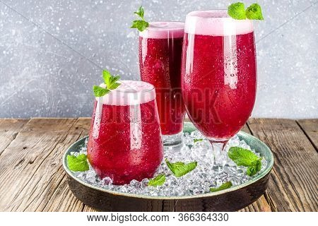Summer Berry Red Iced Punch