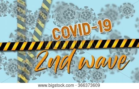 Concepts Of Second Wave Coronavirus Pandemic Outbreak, 3d Rendering