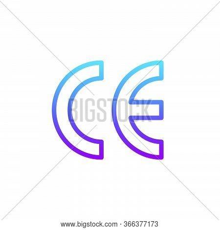 Ce Mark Vector Icon Symbol Isolated On White Background