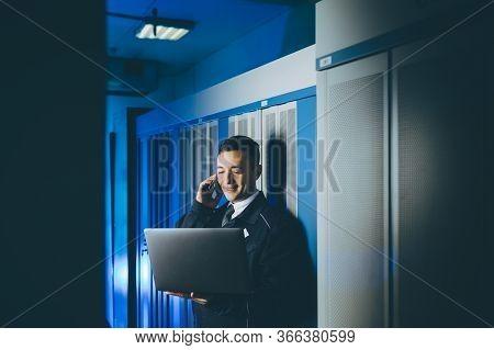 Server Data Network Center Internet Man Connection
