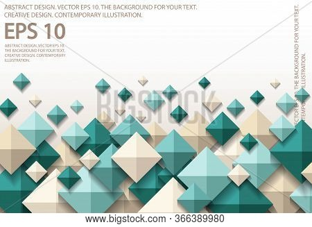 A Set Of Three-dimensional Diamonds. Abstract Composition Made Of 3d Cubes. Design For Decoration. S