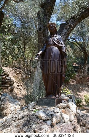 The Statue Of The Virgin Mary In The Yard Of The House Of The Virgin Mary. The House Of The Virgin M