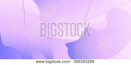 Abstract Purple Background. Gradient Geometric Shapes. Wave Journal. Contemporary Composition. Pink