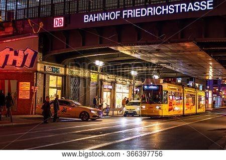 Berlin / Germany - February 28, 2017: Berlin Friedrichstrasse Railway Station In Berlin, Germany