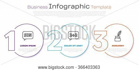Set Line Human Brain, Graph, Schedule, Chart, Diagram And Chalkboard. Business Infographic Template
