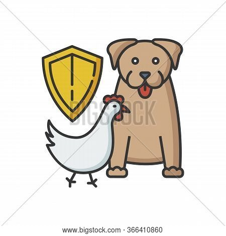 Wildlife Protection Rgb Color Icon. Rescue Domestic Animal. Shelter Campaign For Pets. Center For Sa