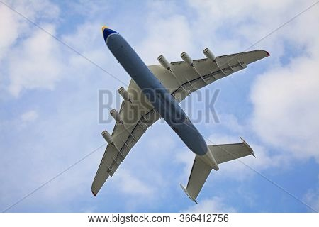 Gostomel, Ukraine - September 25, 2012: The Biggest Cargo Plane In The World, An-225 (mriya). Ukrain